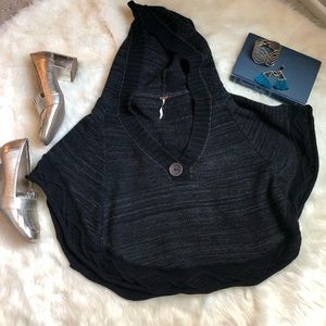 Free People Hooded Poncho
